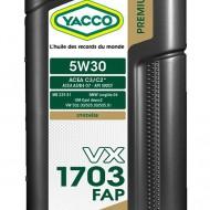 YACCO VX 1703 FAP 5W-30 Масло моторное (2L)