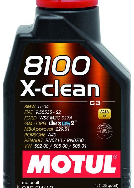 MOTUL 8100 X-clean 5W-40 (208L) 1